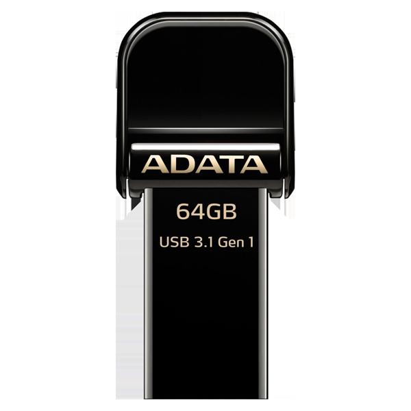 ADATA i-Memory Flash drive 64G Black AAI920-64GB