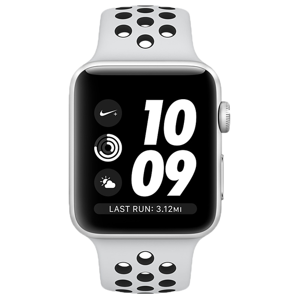 Apple Watch Nike Plus GPS 38mm Silver Pure Black Sport Band