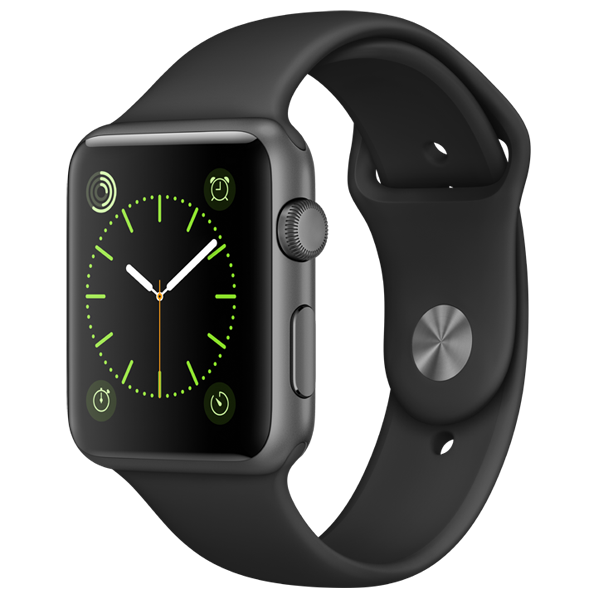 Apple Watch S1 42mm Space Grey - Black Sport Band MP032MP-A