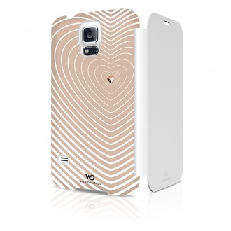Book Rose Gold Samsung Galaxy s5 - Colectia Heartbeat