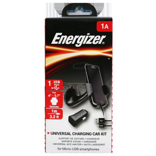 Energizer kit auto suport parbriz inc USB 1A CARKIT1ACMC3
