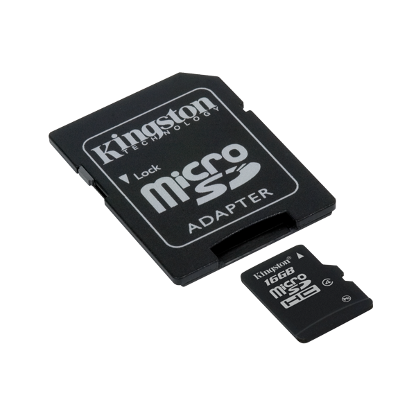 KINGSTON MICRO SD 16GB + adapter