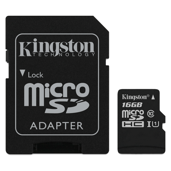 Kingston microSD clasa 10 SDCS CL10 16GB cu SD Adaptor
