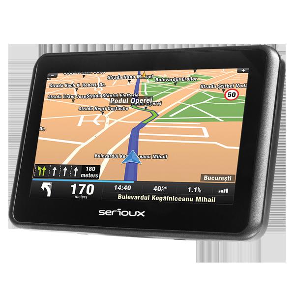 Serioux GPS Urban Pilot UPQ430 4.3TFT harti full Europe