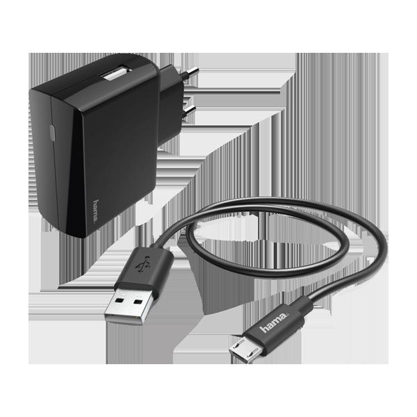 Hama incarcator priza micro-USB 2.4A 183245 Black